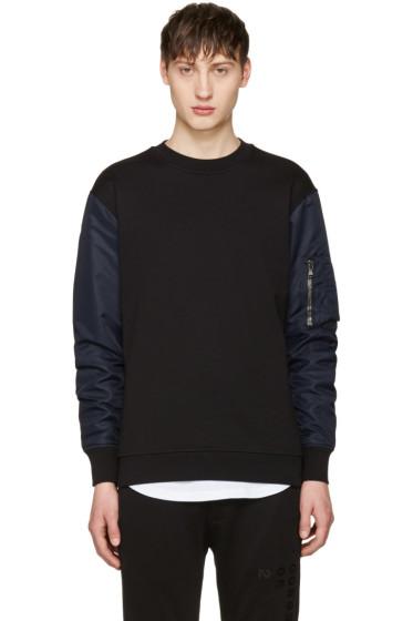 Diesel Black Gold - Black Nylon Sleeve Pullover