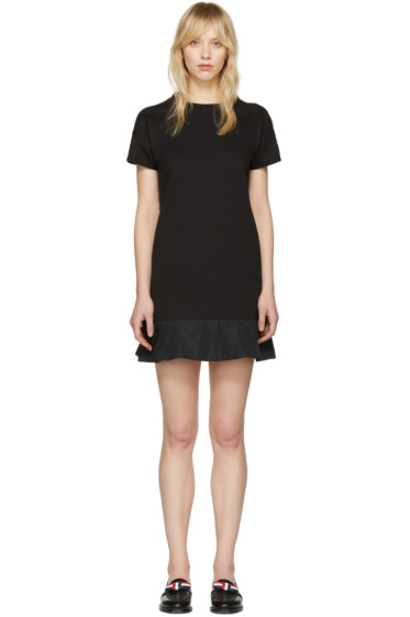 Moncler - Black Peplum T-Shirt Dress