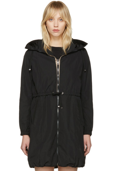 Moncler - Black Tuile Hooded Coat
