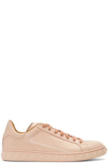 Moncler - Pink Leather Fifi Sneakers