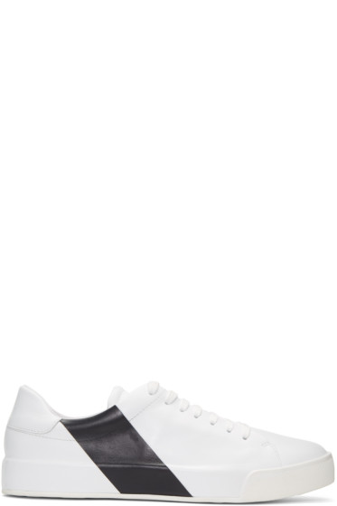 Moncler - White & Navy Remi Sneakers