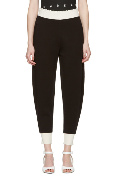 McQ Alexander Mcqueen - Black Scalloped Lounge Pants
