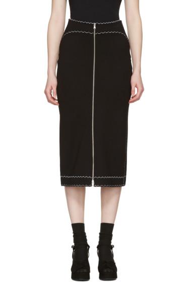 McQ Alexander Mcqueen - Black Contrast Stitch Skirt