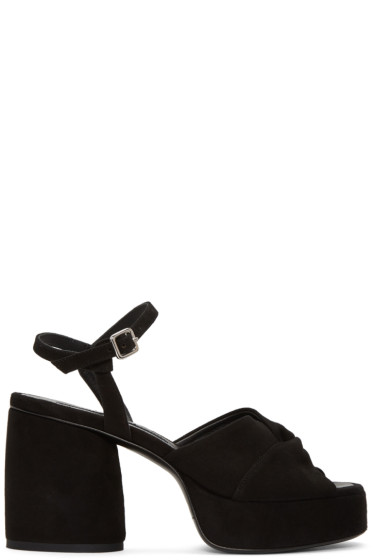 McQ Alexander Mcqueen - Black Suede Arizona Sandals