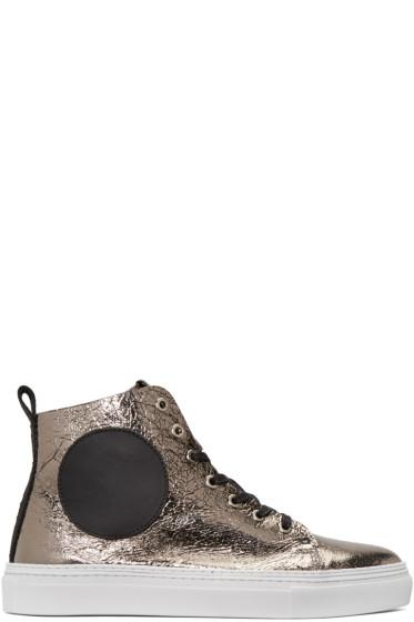 McQ Alexander Mcqueen - Gunmetal Chris Mid-Top Sneakers
