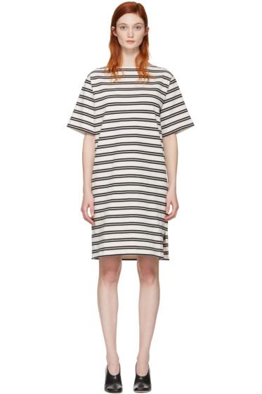 Acne Studios - Ecru Striped Dodora Dress