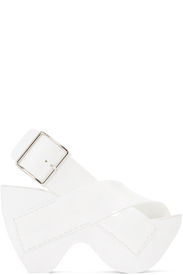 Acne Studios - White Patent Carley Sandals