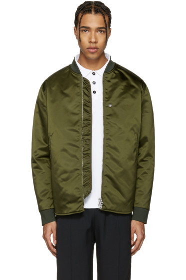 Acne Studios - Green Mylon Bomber Jacket