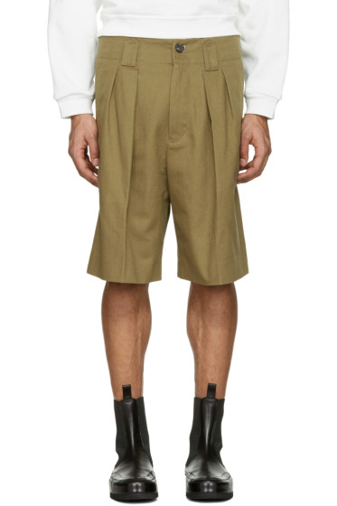 Acne Studios - Beige Alex H Twill Shorts