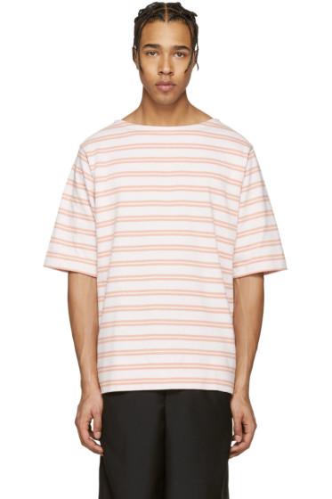 Acne Studios - Pink Striped Nimes T-Shirt