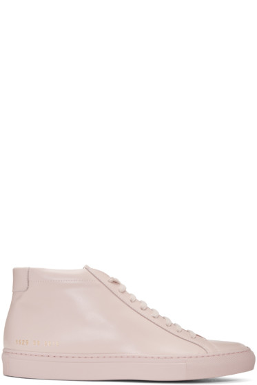 Common Projects - Pink Original Achilles Mid Sneakers
