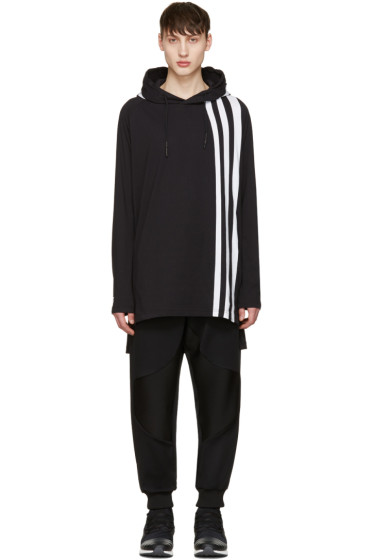 Y-3 - Black Three Stripe Hoodie