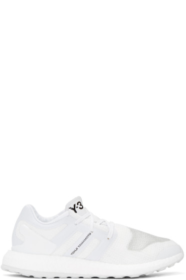 Y-3 - White Pure Boost Sneakers