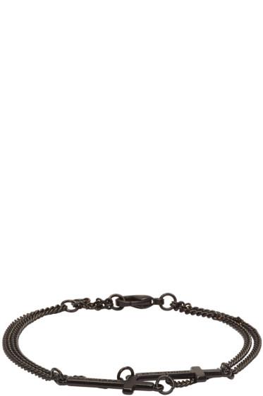 Dsquared2 - Black Double Cross Bracelet