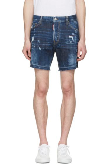Dsquared2 - Blue Square Crotch Shorts