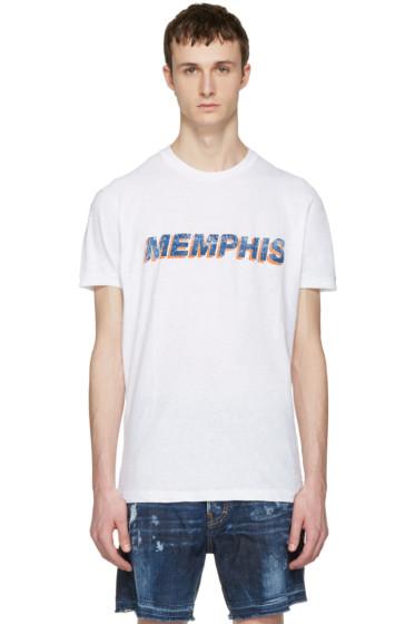 Dsquared2 - White 'Memphis' T-Shirt