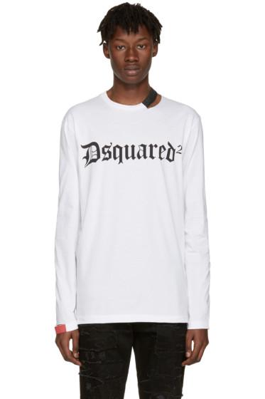 Dsquared2 - White Cut-Out Logo T-Shirt