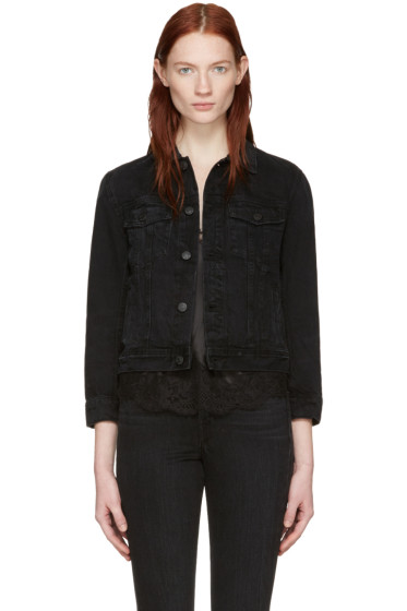 Helmut Lang - Black Shrunken Denim Jacket