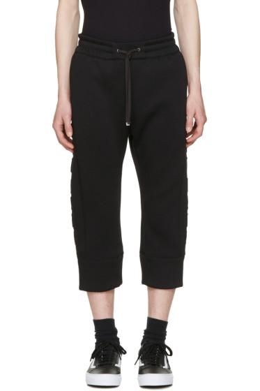 Helmut Lang - Black 3D Logo Jogger Pants