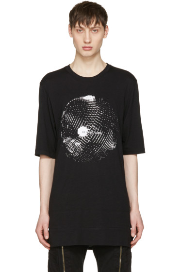 Helmut Lang - Black Disco Ball Logo T-Shirt
