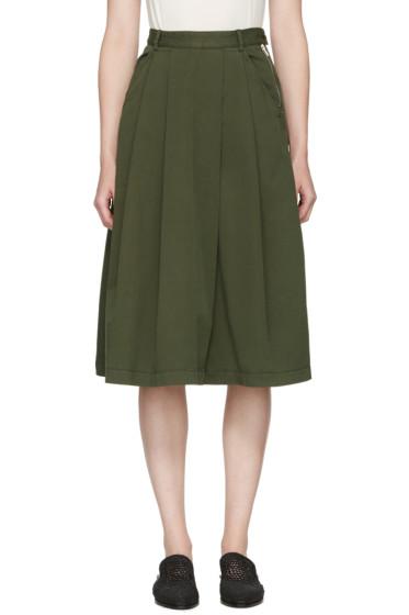 YMC - グリーン シーラ スカート