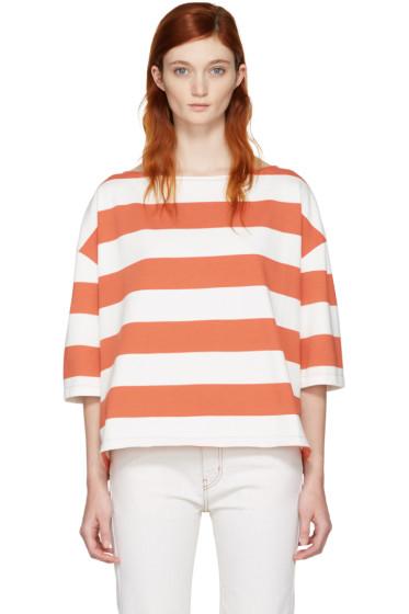 YMC - Red & White Oversized Agnes T-Shirt