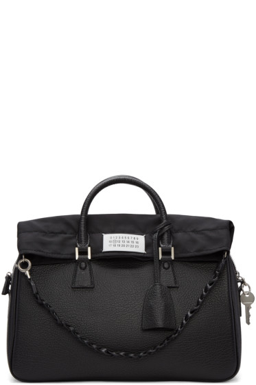 Maison Margiela -  Black Large Exposed Lining Duffle Bag