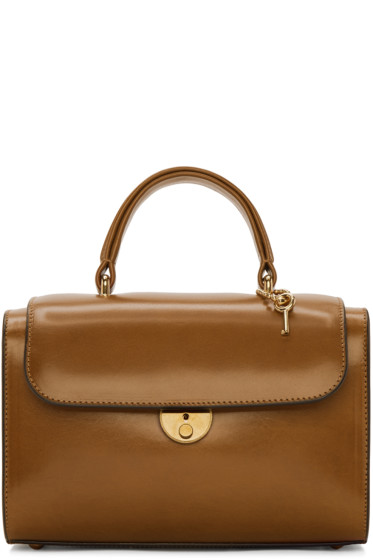 Maison Margiela - Brown Leather Duffle Bag