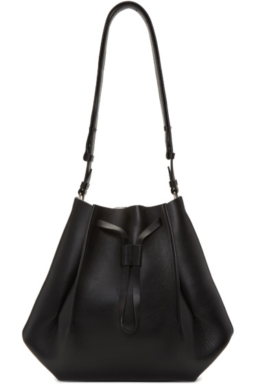 Maison Margiela - Black Leather Bucket Bag
