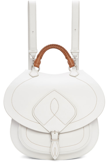 Maison Margiela - White Leather Saddle Bag