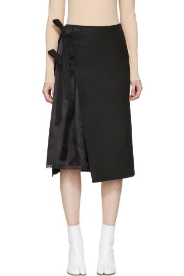 Maison Margiela - ブラック ダブル レイヤー スカート