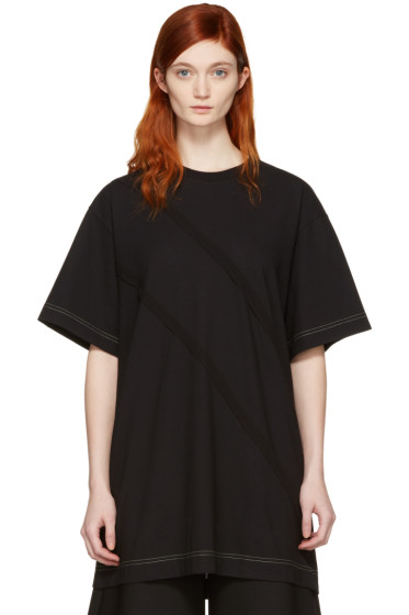 Maison Margiela - Black Panelled T-Shirt