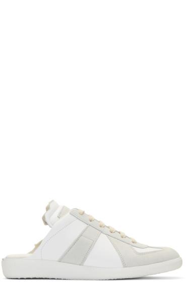 Maison Margiela - ホワイト ディコンストラクト スライド スニーカー