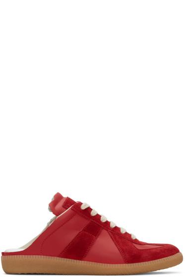 Maison Margiela - Red Open-Back Replica Sneakers