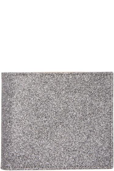 Maison Margiela - Silver Glitter Bifold Wallet