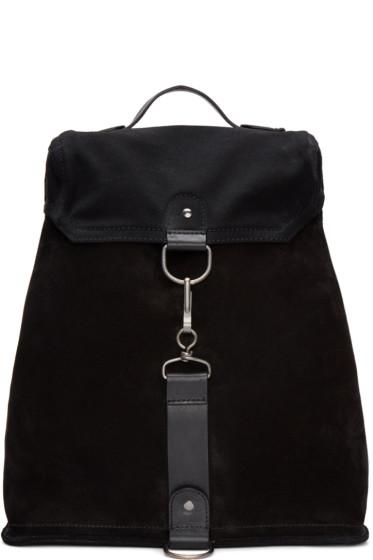 Maison Margiela - Black Suede & Canvas Backpack