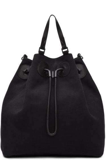 Maison Margiela - Black Canvas Bucket Backpack
