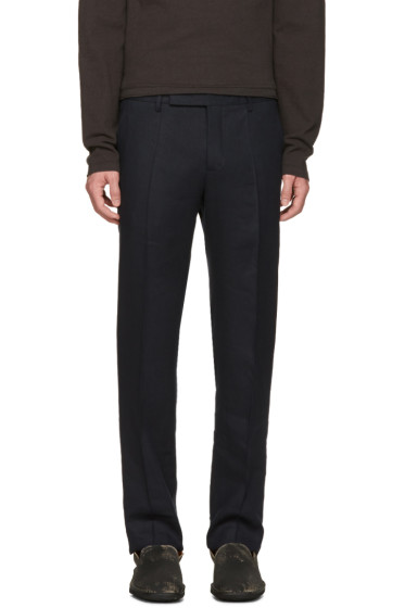 Maison Margiela - Navy Pleated Trousers