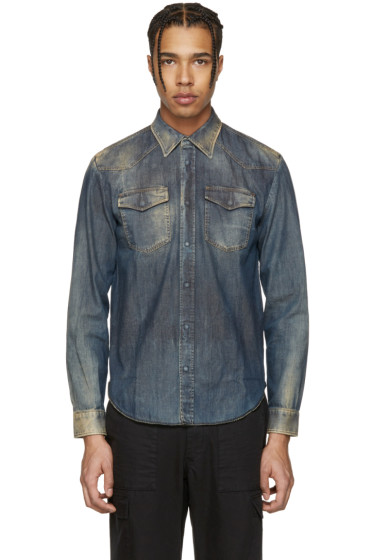 Maison Margiela - Indigo Faded Denim Shirt