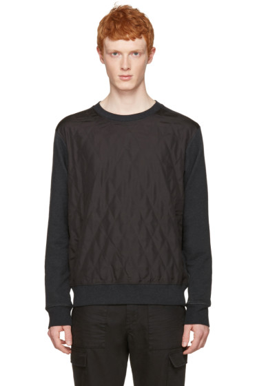 Maison Margiela - Grey Quilted Front Pullover