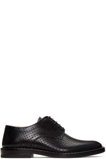 Maison Margiela - Black Perforated Leather Derbys