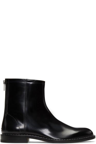 Maison Margiela - Black Leather Zip Boots