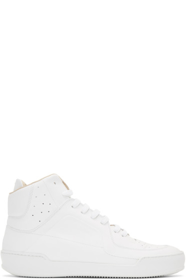 Maison Margiela - White Leather High-Top Sneakers