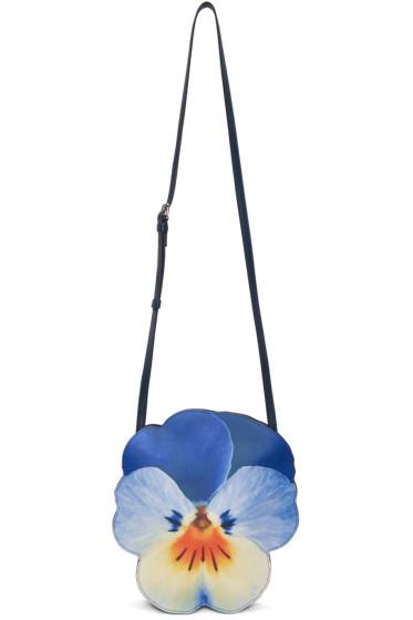 Christopher Kane - Blue Pansy Shoulder Bag