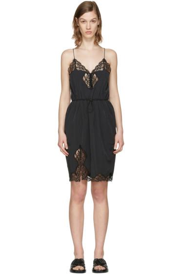 Alexander Wang - Black V-Neck Slip Dress