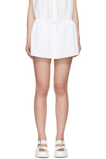Alexander Wang - White Layered Poplin Shorts