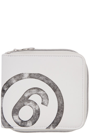 MM6 Maison Margiela - White Faux-Leather Wallet