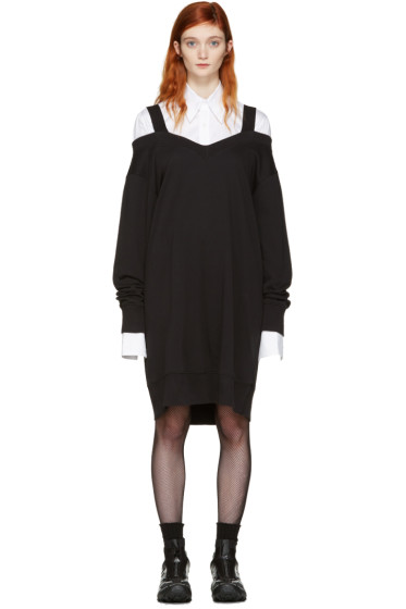 MM6 Maison Margiela - Black Off-the-Shoulder Dress
