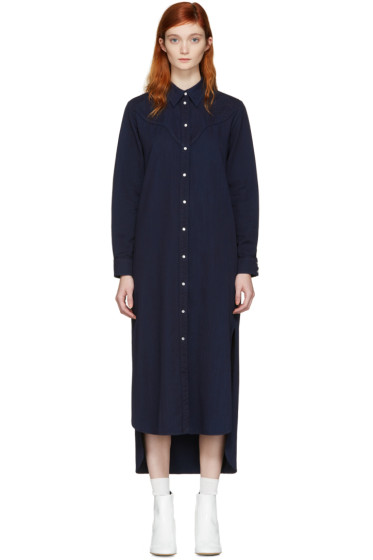 MM6 Maison Margiela - Blue Denim Shirt Dress