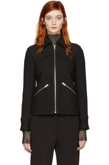 MM6 Maison Margiela - Black Zip-Up Jacket